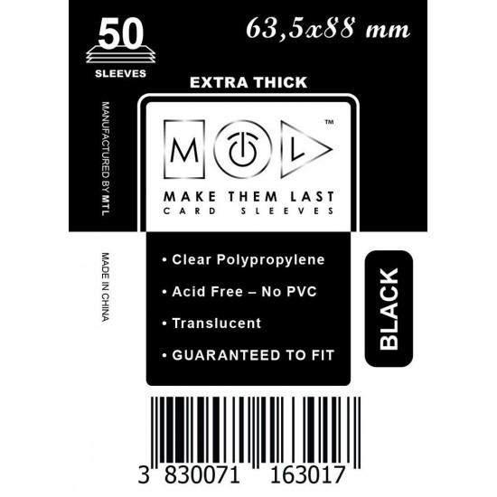 Card Sleeves MTL Black 63,5x88mm