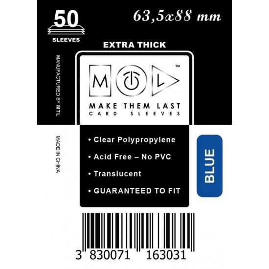 Card Sleeves MTL Blue 63,5x88mm