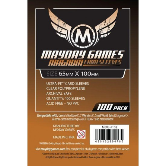 Magnum Ultra-Fit Card Sleeves 65x100mm